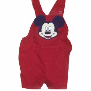 Kid's Disney Mickey Mouse Red Overalls